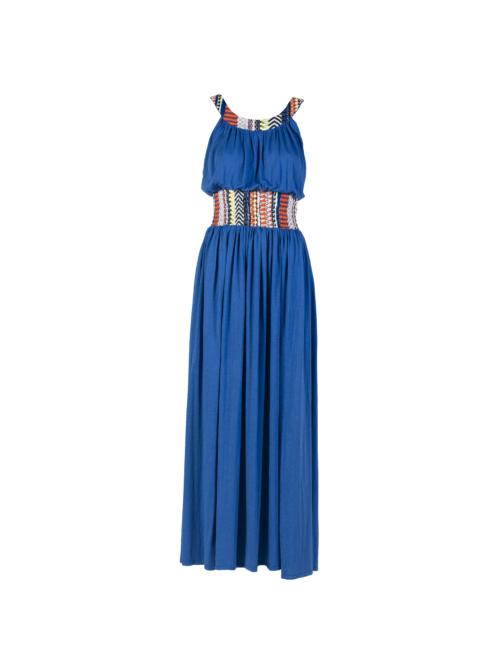 """""""Joyous"""" Long Dress_T1601_FRONT_BLUE TIKTO TIKTOATHENS"""