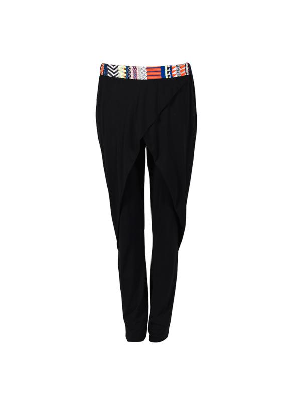 "T1618_BLACK_FRONT-""Jovial"" Jersey Pants TIKTO TIKTOATHENS"