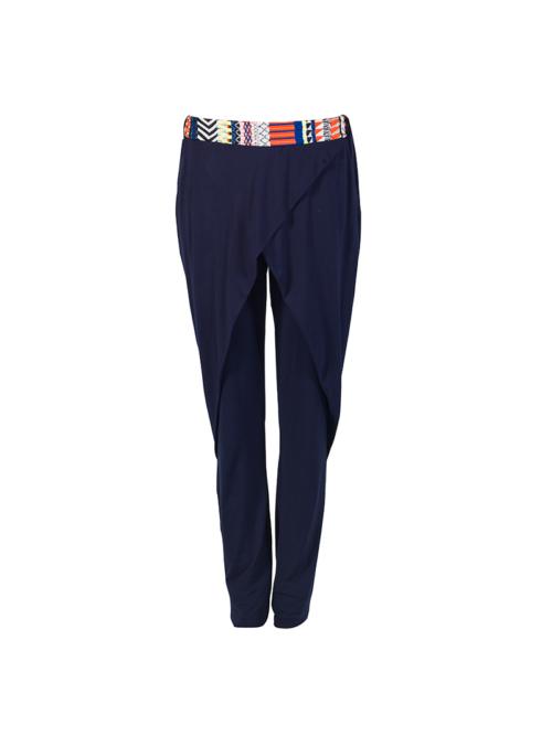 "T1618_BLUE_FRONT-""Jovial"" Jersey Pants TIKTO TIKTOATHENS"