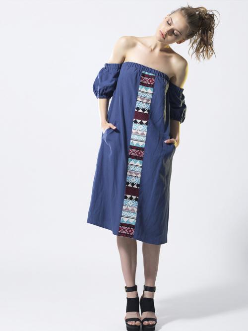 T1802 BLUE SUMMER LOVING DRESS TIKTO TIKTOATHENS