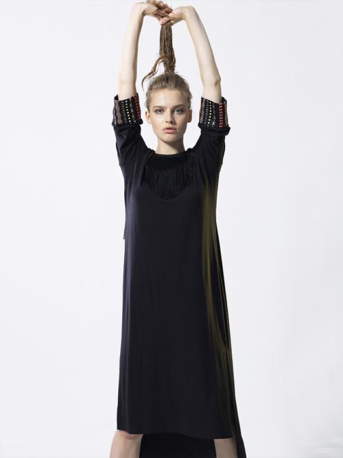 T1832 BLACK HEAVENLY DRESS TIKTO TIKTOATHENS