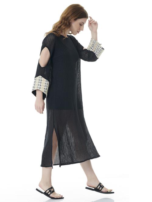 T1814 BLACK SUNSHINE KAFTAN DRESS TIKTO TIKTOATHENS